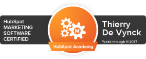 Thierry De Vynck I HubSpot certified marketing consultant